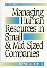 Cover of: Managing human resources in small and mid-sized companies