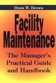 Cover of: Facility maintenance