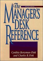 Cover of: The manager's desk reference