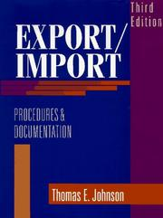 Cover of: Export/import procedures and documentation
