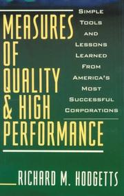 Cover of: Measures of Quality and High Performance | Richard M. Hodgetts