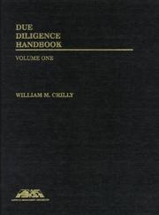 Cover of: Due diligence handbook