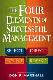 Cover of: The Four Elements of Successful Management