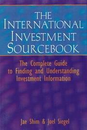 Cover of: Investment sourcebook