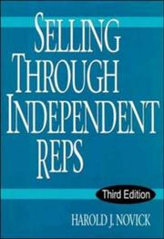 Cover of: Selling through independent reps