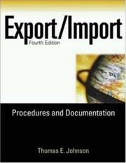 Cover of: Export/Import Procedures and Documentation (Export/Import Procedures & Documentation)