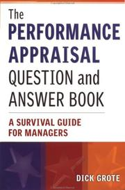 Cover of: The Performance Appraisal Question and Answer Book