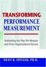 Cover of: Transforming Performance Measurement