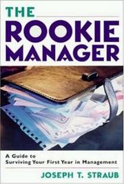 Cover of: The Rookie Manager