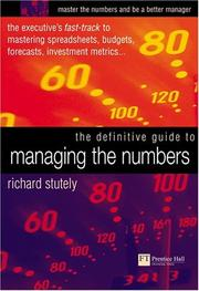 Cover of: The definitive guide to managing the numbers