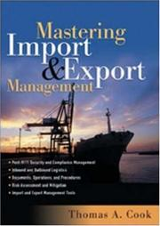 Cover of: Mastering Import and Export Management | Thomas A. Cook, Rennie Alston, Kelly Raia