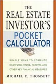 Cover of: The Real Estate Investor