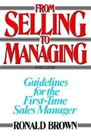 Cover of: From Selling to Managing