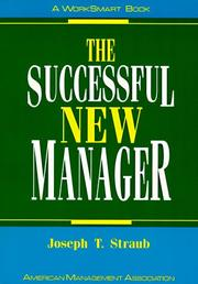 Cover of: The successful new manager