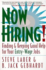 Cover of: Now hiring!