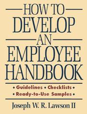 Cover of: How to develop an employee handbook