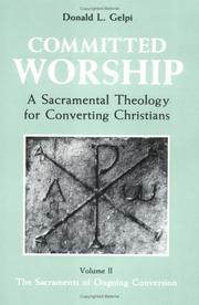 Cover of: Committed worship | Donald L. Gelpi