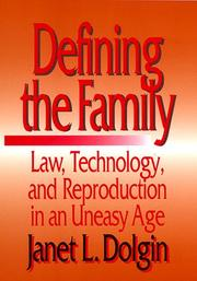 Cover of: Defining the Family