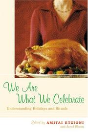 Cover of: We are what we celebrate