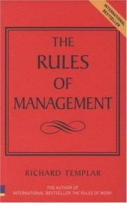 Cover of: The rules of management | Richard Templar