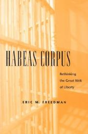 Cover of: Habeas Corpus | Eric Freedman