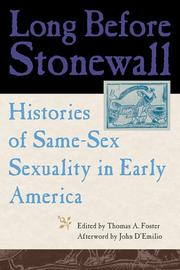 Cover of: Long Before Stonewall