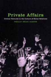 Cover of: Private Affairs | Phillip Brian Harper