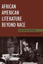 Cover of: African American Literature Beyond Race | Gene Jarrett