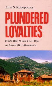 "Cover of: Plundered loyalties | GianneМ""s Koliopoulos"