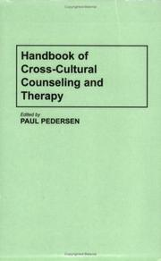 Cover of: Handbook of Cross-Cultural Counseling and Therapy