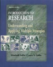 Cover of: Introduction to Research: Understanding and Applying Multiple Strategies