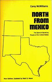 North from Mexico by McWilliams, Carey