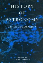 Cover of: History of Astronomy