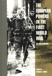 Cover of: The European Powers in the First World War
