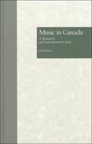 Cover of: Music in Canada