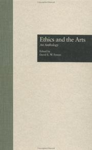 Cover of: Ethics and the arts |