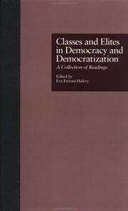 Cover of: Classes and Elites in Democracy and Democratization | Etzionishhalevy