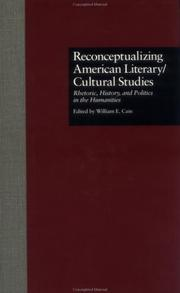 Cover of: Reconceptualizing American literary/cultural studies |
