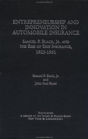 Cover of: Entrepreneurship and Innovation in Automobile Insurance | Samuel P. Black