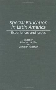 Cover of: Special education in Latin America