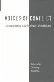 Cover of: Voices of Conflict | Reitum Mabokela