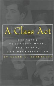 Cover of: A Class Act | Susan Robertson