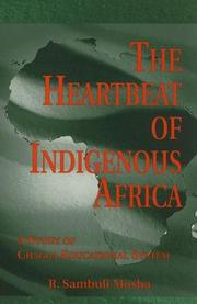 Cover of: The heartbeat of indigenous Africa | R. Sambuli Mosha
