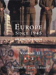 Cover of: Europe since 1945 | Bernard A. Cook, editor.