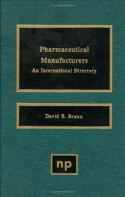 Cover of: Pharmaceutical manufacturers