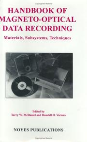 Cover of: Handbook of magneto-optical data recording |