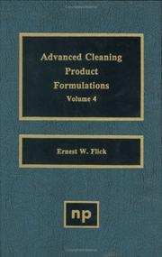 Advanced Cleaning Product Formulations, Volume 4