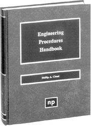 Cover of: Engineering procedures handbook