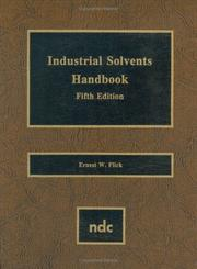 Cover of: Industrial solvents handbook |