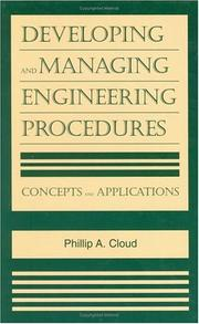Cover of: Developing and managing engineering procedures